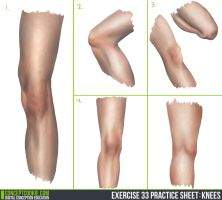 Knee Study - Daily Practice by Olooriel