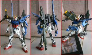 Sword-Launcher Strike Gundam by zerozora