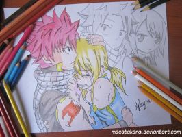 Natsu and Lucy (Fairy Tail) by Macatakarai