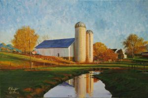 Twin Silos 3  2012 by pfeight