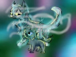 Moonflower and Bluekit... by neonekitteh