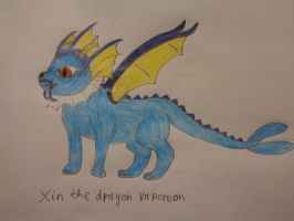 Xin the dragon vaporeon my redaw by woodywoodwood