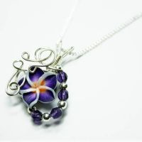 Beaded Flower Perfume Pendant by Create-A-Pendant