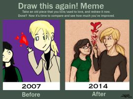 Before And After Meme :: Love Spell by SpaceJacket