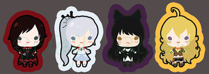 RWBY Stickers by Royal-Jelliefish