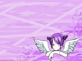 purple angel wallpaper by isuckbuthellirock