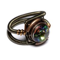 Steampunk Ring vitrail 2 by CatherinetteRings