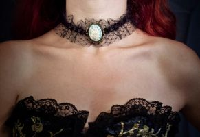 necklace - turquoise cameo by Sizhiven