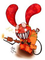 Blood bunny - Flamethrower by Joakaha