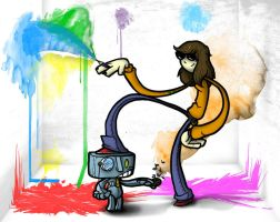 colors, sounds, girls 'n robots by Nedelja