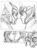 Thor and Loki by Silverleopard