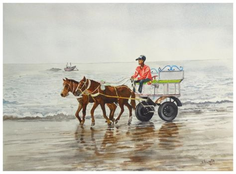 Horse carriage by aakritiarts