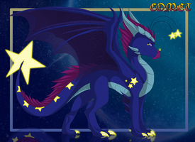 Comet  the dragoness by Anais-thunder-pen