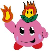 Fire Kirby by fatwolf012