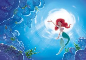 L-ariel-the-little-mermaid-disney-wall-mural-4645- by princessesihamkhallo