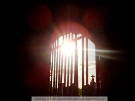 Foxhall Gate Silhouette by fluffyvolkswagen
