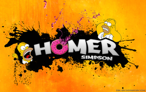 Text Paint Homer Simpson by Syk-Art