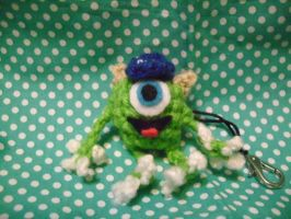 Mike Wozowski MU Keychain by Vampire-Juicebox