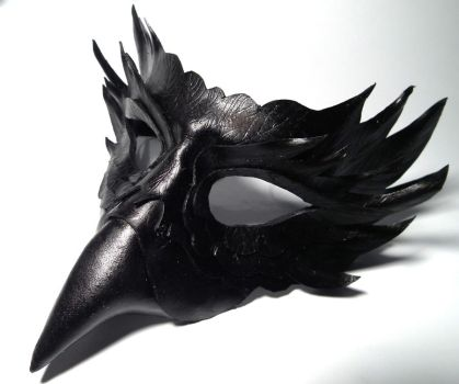 Raven Leather mask by Shadows-Ink