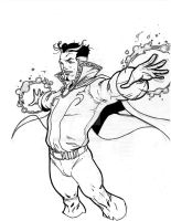 Dr Strange Sketch by Sajad126