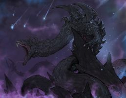 Dalamadur, the Serpent King Dragon by Halycon450