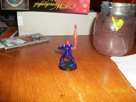 Back view of Eldar Guardian by blackpanther0123