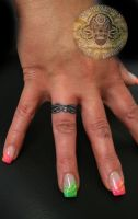 Ring Tattoo Hand by 2Face-Tattoo