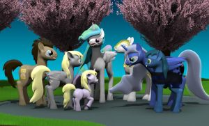Royal Scene MLP FIM by Harikon