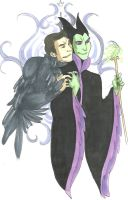 Maleficent and Diablo by jack-o-lantern12