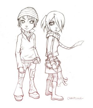 Little pair sketch by ChanpART