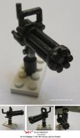 'Mini' M-134 MINIGUN for LEGO by Deorse