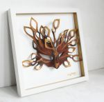 Golden Leaf Shadow Box by nondecaf