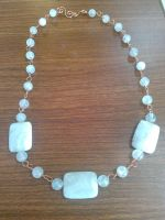 copper agate and quartz crystal by Wolf-Lady-bsparks85