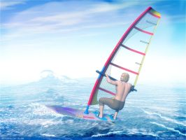 Windsurfer dude by rlcwallpapers