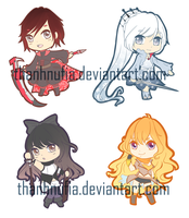 RWBY: Team RWBY Charms by ThanhnuFia