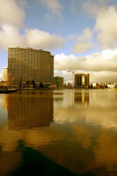 Lake Merritt and Building by scorsesezoe