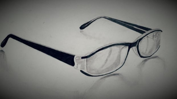 Glasses pencil drawing. by dubz002