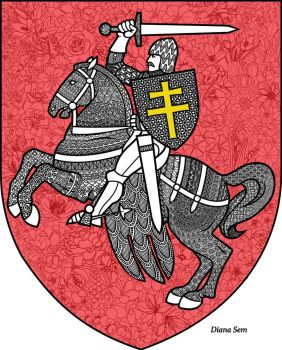 Belarus coat of arms by Dianaoneinamillion