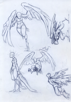Sketches_harpies by AshiPhoenix