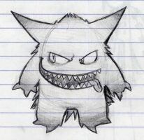 oh gengar, you're such a card by darku