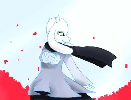 Aerial!Toriel (arialtale AU) by StandingBerry