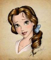 Belle Portrait Color by MoonchildinTheSky