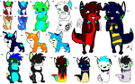 tons of cheapsters by SpunkyAdopts
