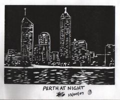 Perth City at Night by iFoxSpirit