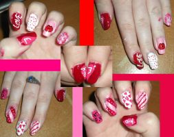 V-Day Nails: Jongkey Style by xDisneyGirlx