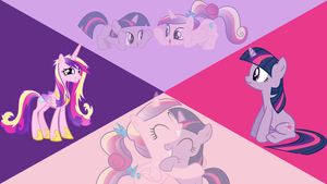 Memories - Twilight and Cadence Wallpaper by Dawn-Sparkle06
