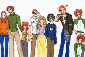 Weasley kids and then some by Ranya-Ni