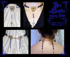 Ave Sophia rosary choker by redLillith