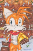 Tails in Crystal Cave by DragonQuestHero
