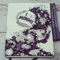 #6 I (don't) love Monday by 365-DaysOfDoodles